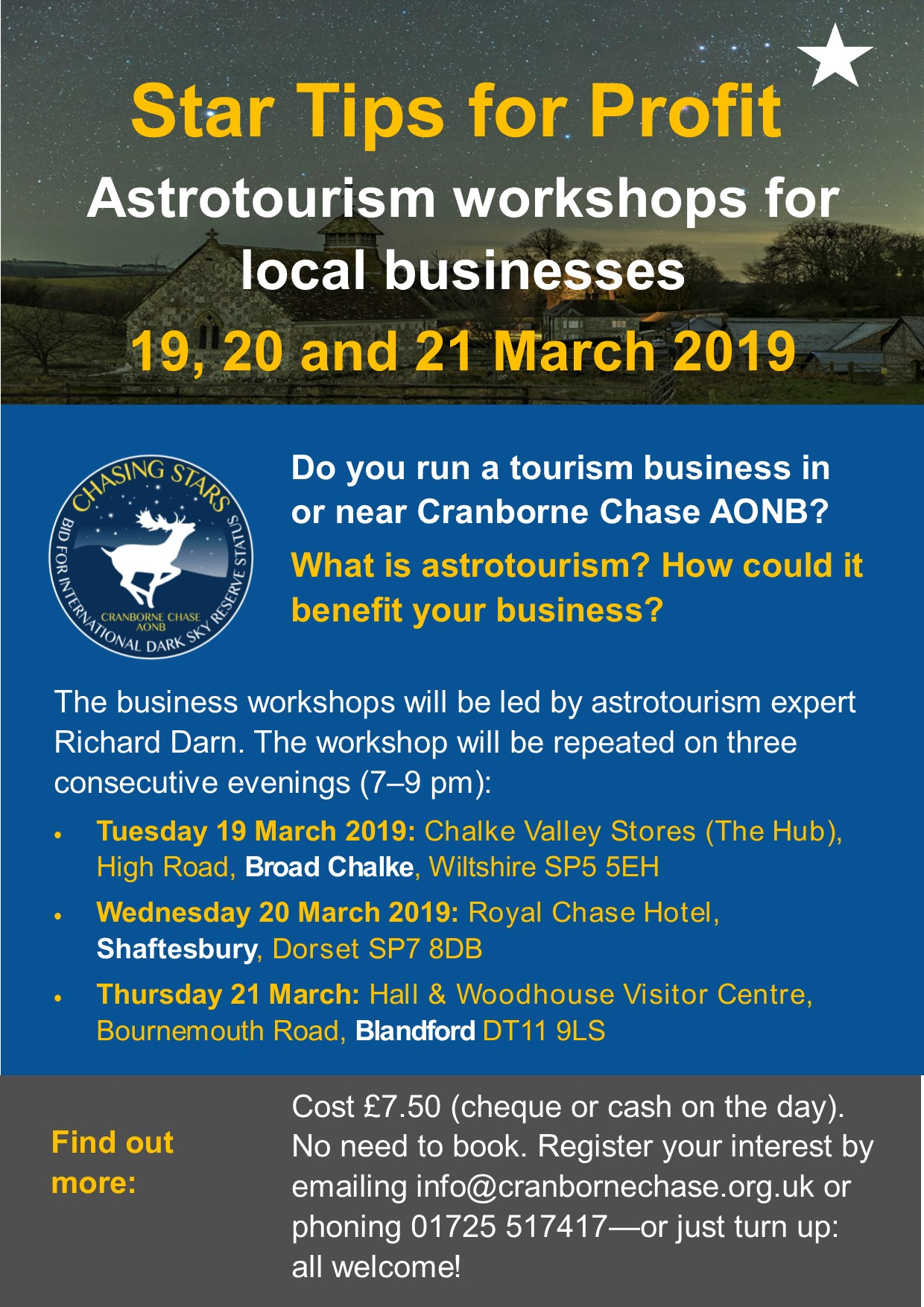 Astrotourism business workshops